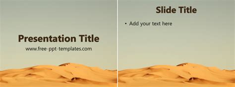 Desert Ppt Template Free Powerpoint Templates Desert Powerpoint Background