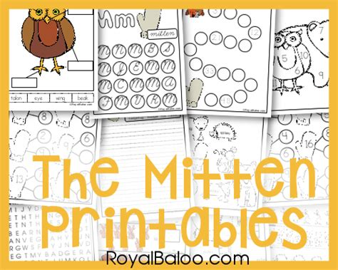printable mitten maze the mitten pack royal baloo