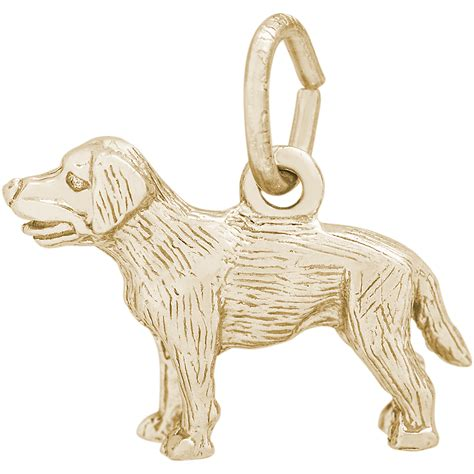 labrador retriever charm 14k gold 10 2404