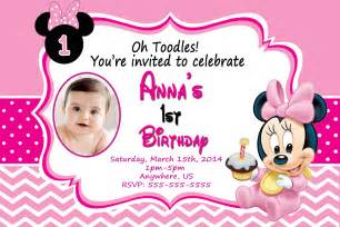 Free Minnie Mouse 1st Birthday Invitations Templates by Baby Minnie Mouse 1st Birthday Invitations Dolanpedia