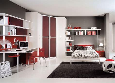 interior exterior plan blood red teen bedroom