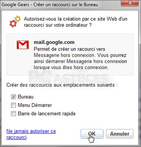 raccourci bureau gmail fred travailler hors ligne avec gmail