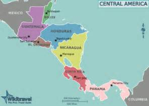 map of south and central america with capitals central america etriptips wiki