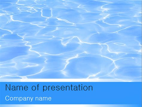 theme template free blue water powerpoint template for