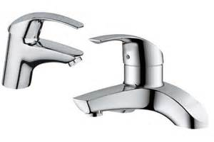 Deck Mounted Thermostatic Bath Shower Mixer designer basin taps ryans direct