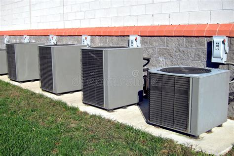 commercial air conditioner condenser ac units row royalty free stock images image 16805009