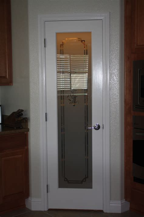 Frosted Glass Panel Interior Door by Frosted Interior Doors And Glass Panel Pantry With Gallery