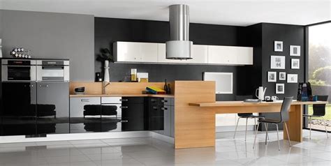 Nice Cabinet Styles For Kitchen #5: Grey-Kitchen-Cabinet-wtih-Wooden-Table.jpg