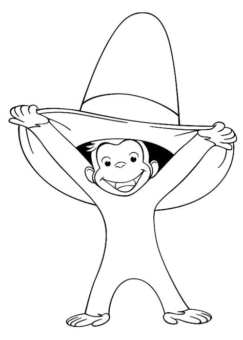 Merry Curious George Coloring Pages Curious George Color Pages Coloring Home by Merry Curious George Coloring Pages