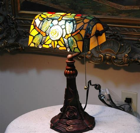 Stained Glass Desk Ls by Stained Glass Style Dragonfly Turtleback Banker S