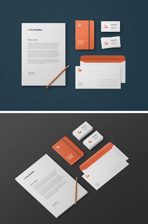 branding design mockup free 15 free branding mockups psd with stationery items