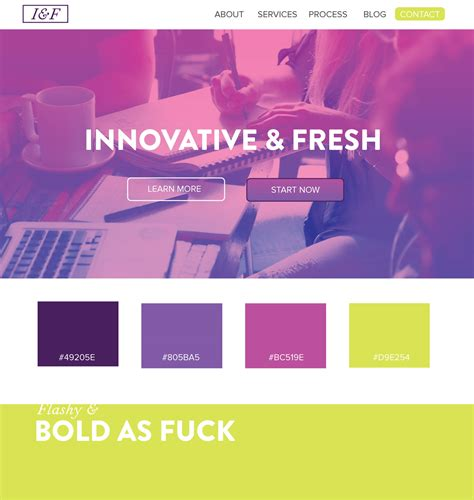 Color Palette Ideas For Websites | 5 web design color palettes from black and gold websites