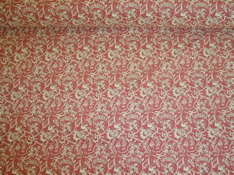 Decor Upholstery by Printed Floral Scroll Decorator Fabrics