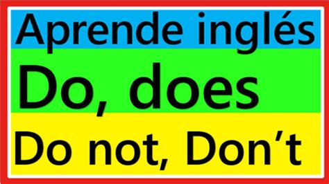 Does A by Curso De Ingles Como Usar Do Does Do Not