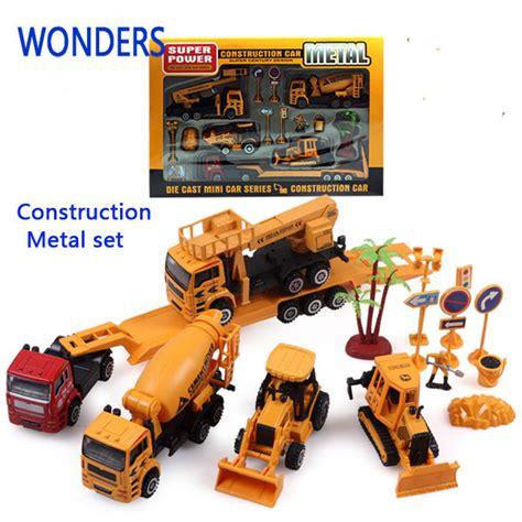 Diecast Alat Berat Construction Metal Power diecast cars 1 50 alloy plastic construction car set