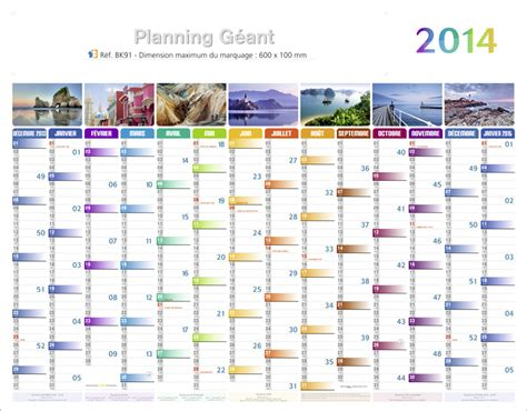 Planning Calendrier Calendrier Planning