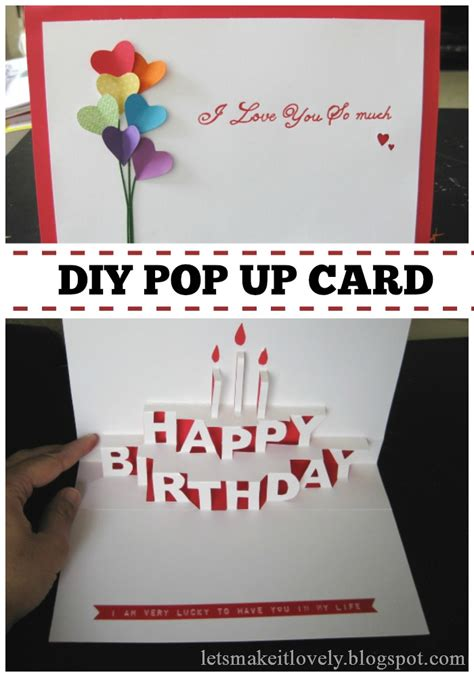 Make Pop Up Card Template by Let S Make It Lovely Happy Birthday Pop Up Card
