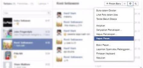 fb pesan cara menghapus semua pesan chat di facebook mudah