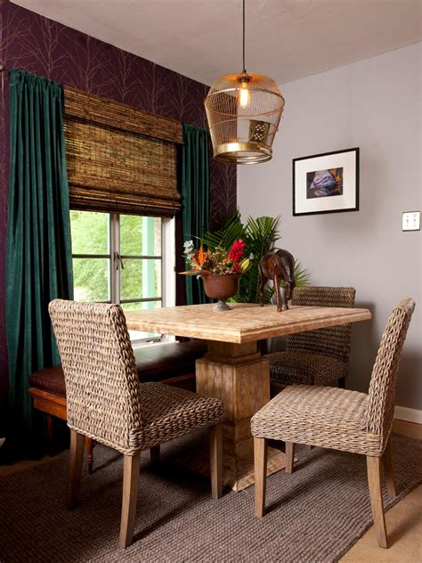 jute chairs  tropical dining room hgtv