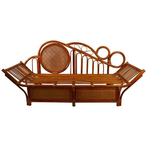bamboo daybed bamboo daybed chaise attributed to parzinger for sale at