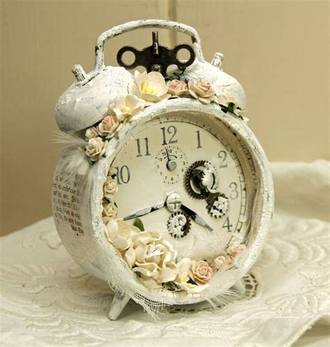 Ideas For Handmade The Clock In Vintage Style With Their Shabby Chic Alarm Clock