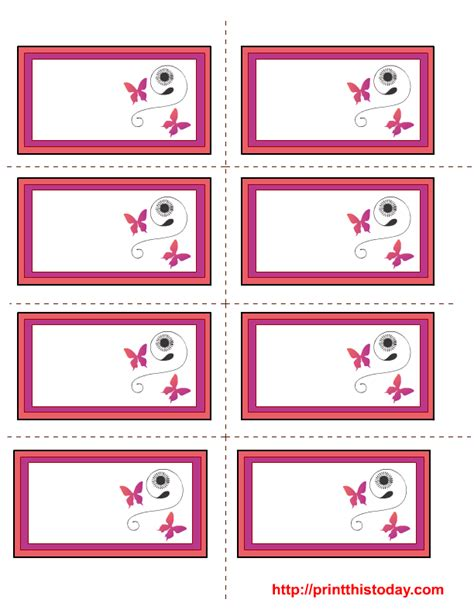 Label Card Template by Free S Day Labels Templates