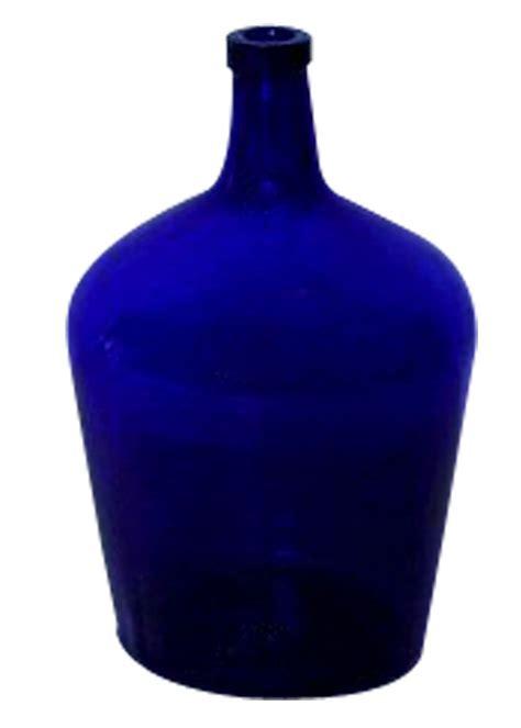 cobalt blue glass l vintage 10l kobaltblaue korbflasche aus glas bei pamono kaufen