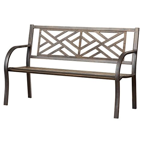 black metal garden bench elegant design crestshire metal garden bench in black