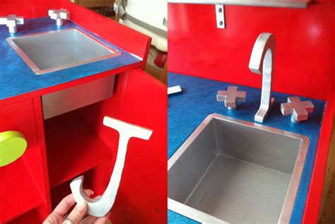 Play Kitchen Faucet by Thrift Store Play Kitchen Makeover Imagine Our