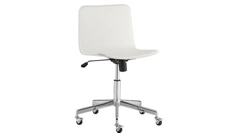 white office desk chair form white office chair cb2