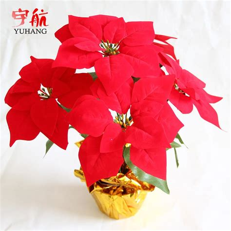 artificial poinsettia plant promotion shop for promotional
