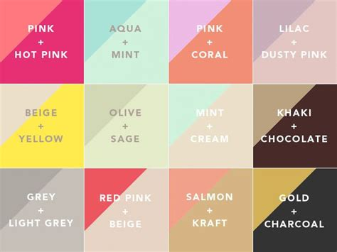 color pairs best 25 color combinations ideas on