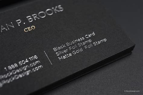Great Bussiness Card Black And Silver Template by Black Business Card Matte Gold Sting