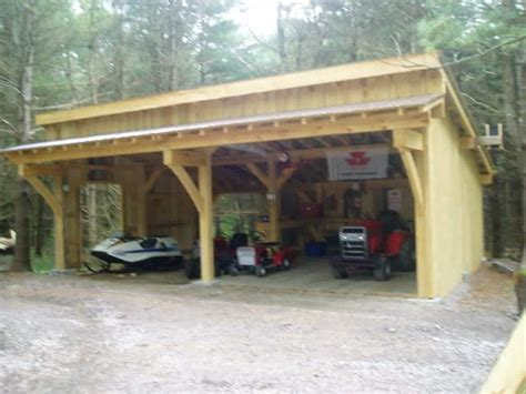 raw log post  beam shed roof garage google search