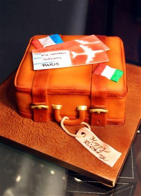 Orange Suit Case Travel Theme  Ee  Birthday Ee    Ee  Cake Ee   Jpg