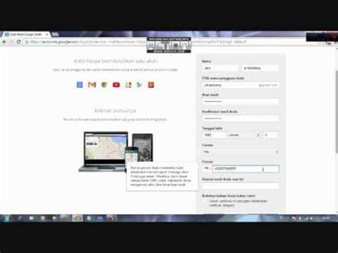 membuat gmail youtube cara sederhana membuat akun gmail 2015 youtube