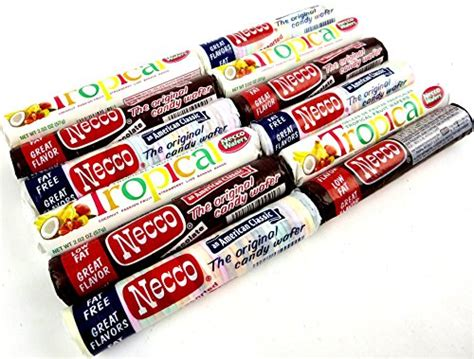 Tassins Unique Necco Wafers by Usa Necco Wafers 3 Flavor Variety Four 2 02 Oz Rolls Each