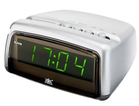 modern alarm clock xonix snooze digital led display mains power ebay