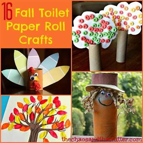 crafts with paper rolls 16 fall toilet paper roll crafts