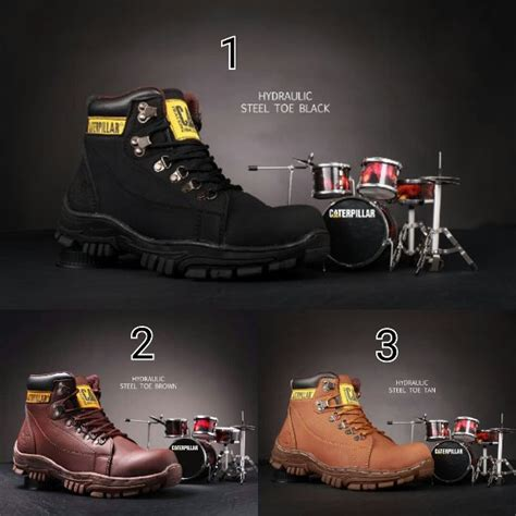 Sepatu Boots Caterpillar Marvel Cat Safety Murah Trekking Hiking jual beli sepatu boots caterpillar cat hidraulic safety