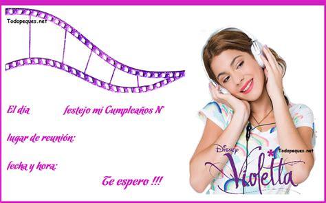 imagenes para cumpleaños de violeta violetta invitaciones para tu cumple