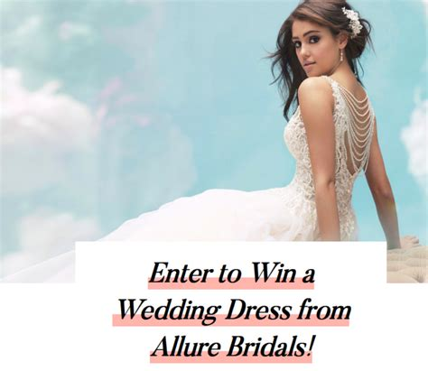 Allure Giveaway - allure bridals wedding dress giveaway enter online sweeps howldb