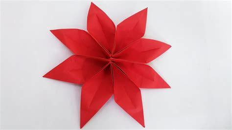 origami 8 petal clematis flower 2 unit step by step my