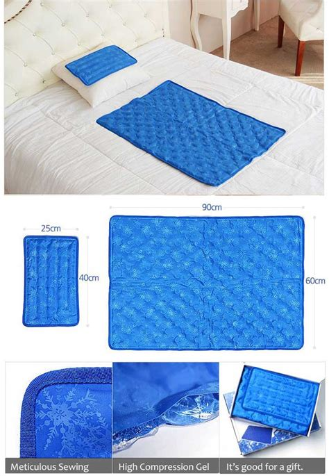 hanil cool gel mattress bed pad cooling topper snowflake 1