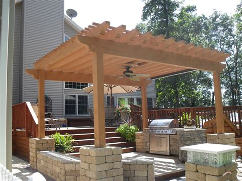 outdoor kitchen w pergola first class decks