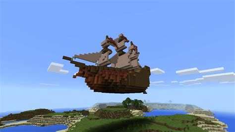 floating boat in minecraft floating pirate ship part 1 minecraft amino