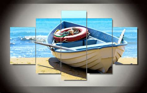 boat canvas wall art boat painting on canvas room decoration print picture