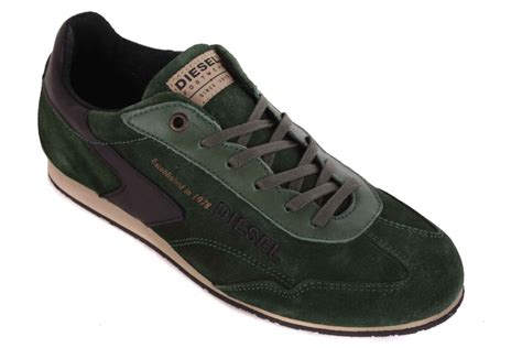 diesel sneakers diesel s sneakers lace up shoes green 10