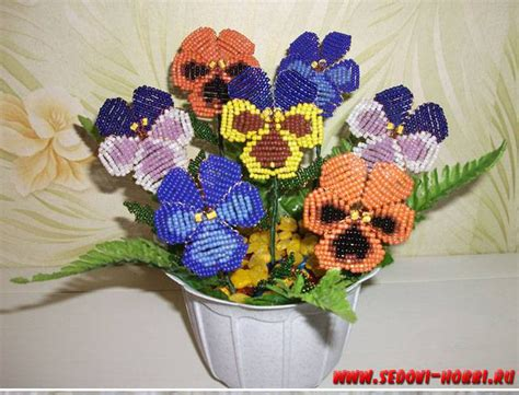 a bead of roses wonderful diy creative pansy flower