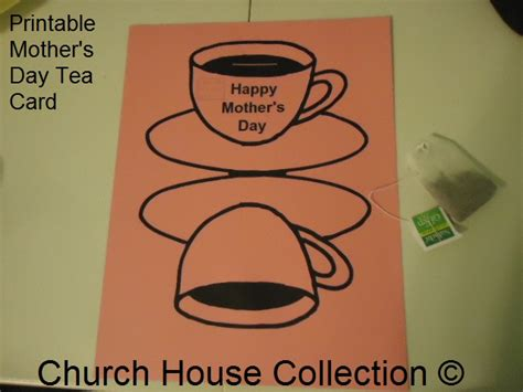 s day card cup template printable s day tea card